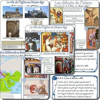Image de L'Eglise au Moyen Age, les débuts de l'Islam, conflits et échanges en Méditerranée : séquences, fiches élèves, traces écrites et évaluations.