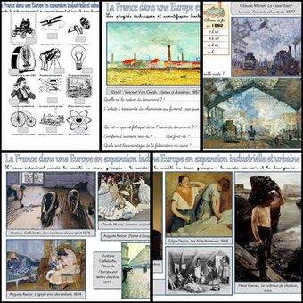 Image de La France dans une Europe en expansion industrielle et urbaine : étude d'œuvres d'art.