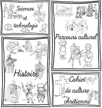 Image de [Rentrée] Pages de garde pour cahiers, porte-vues et classeurs (cycles 2 et 3)