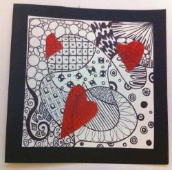 Image de Carte de vœux Zentangle