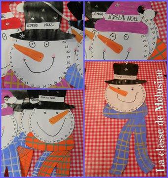 Image de Gabarits du calendrier de l'avent bonhomme de neige