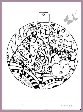 Image de Petit coloriage de Noël pour le plaisir...
