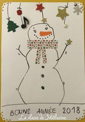 Image de carte de voeux bonhomme de neige