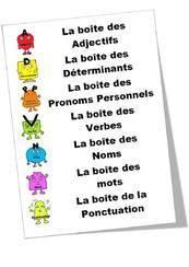 Image de Etiquettes pour la grammaire d'après rseeg de retz