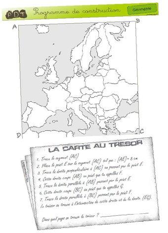 Image de [Géométrie] Carte au trésor – Cycle 3