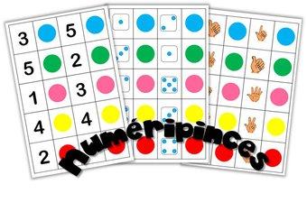 Image de Cycle 1 – Jeu de maths Numéripinces