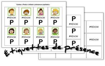 Image de Cycle 1 – Étiquettes de présence