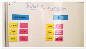 Image de Étude de la langue – Rituel de conjugaison