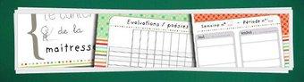 Image de [M.A.J. Outils de planification] Le cahier de la maitresse (cahier journal, relevé de notes, calendrier etc…)