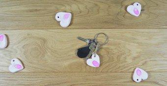 Image de Des porte-clés en forme de cœur