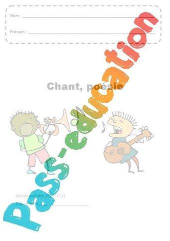 Image de Chant – Poésie – Page de garde – Maternelle – Petite, moyenne et grande section – PS – MS – GS