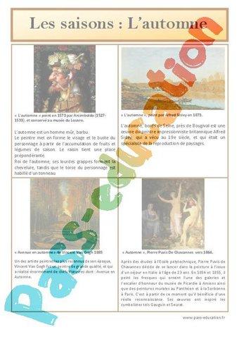 Image de Automne – Les saisons – Lecture d'une oeuvre artistique – Cycle 2 – Cycle 3 – Histoire de l'art