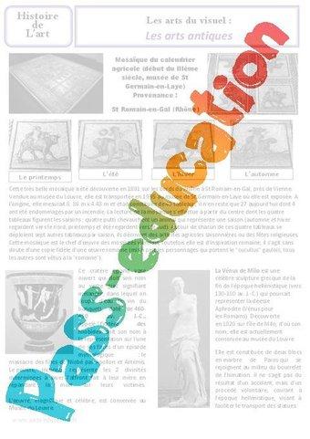 Image de Arts antiques – Art du visuel – Ce2 – Cm1 – Histoire des arts – Cycle 3