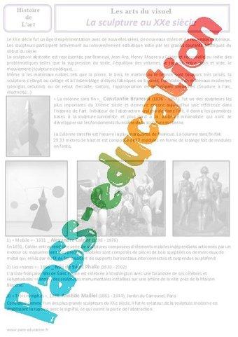Image de Sculpture – Arts du visuel – Cm2 – Histoire des arts – XXème siècle – Cycle 3