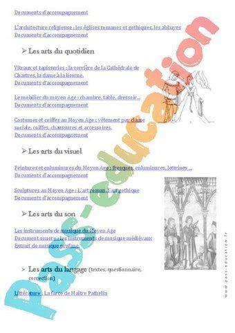 Histoire de l'art - Programme - Ce2 - Cm1 - Cm2 - Exercices - Documentaires - Cycle 3 par Pass ...