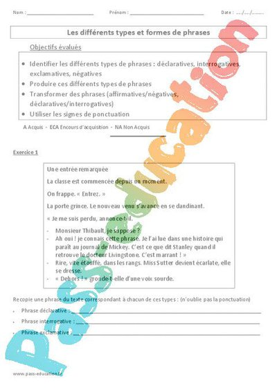 Exercices Sur Les Différents Types De Textes Cm2 - Texte ...