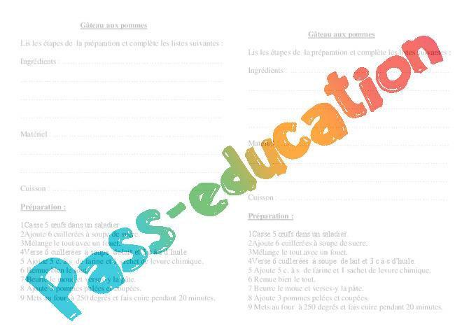 Texte Injonctif Ce2 Cm1 Exercices Ecriture Redaction Cycle 3 Par Pass Education Fr Jenseigne Fr