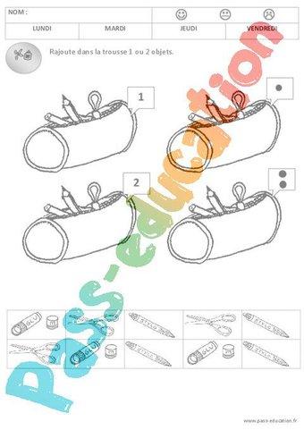 Image de 1 et 2 – Quantités – Rentrée – Moyenne section – Cycle 1