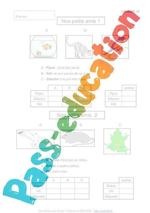 Problemes De Logique Cp Ce1 Exercices Corriges Mathematiques Cycle 2 Par Pass Education Fr Jenseigne Fr