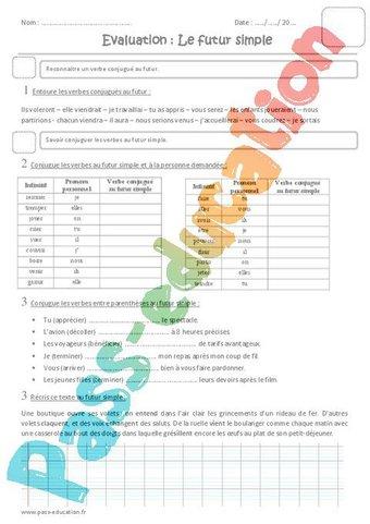 Image de Futur simple – Cm1 – Evaluation