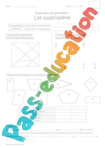 Image de Quadrilatères – Cm1 – Bilan