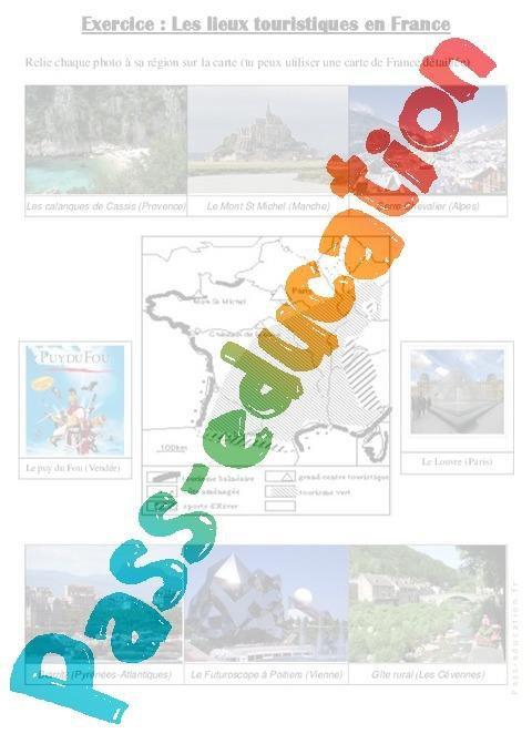 les lieux touristiques cm1