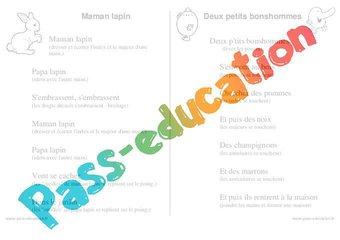 Image de Doigts – Jeux de doigts – Maternelle – Petite section – Moyenne section – Grande section: PS – MS – GS