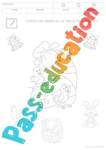 Coloriage Paques Ps Petite Section Par Pass Education Fr Jenseigne Fr
