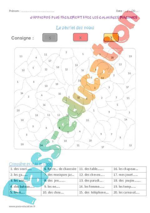 Coloriage Magique Passe Compose Cm1