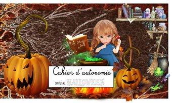 Image de Cahier d'autonomie halloween