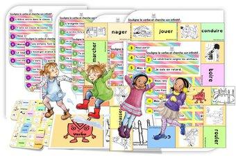Image de Le verbe : séquence jeux / ateliers et activités