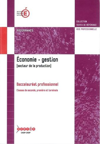 Image de Économie – gestion (secteur de la production) (BAC PRO)