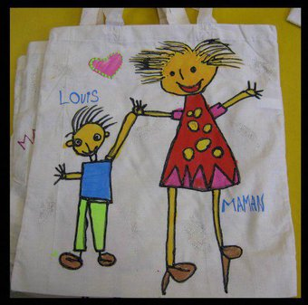 Image de Fête des mères MS : petits sacs en tissu
