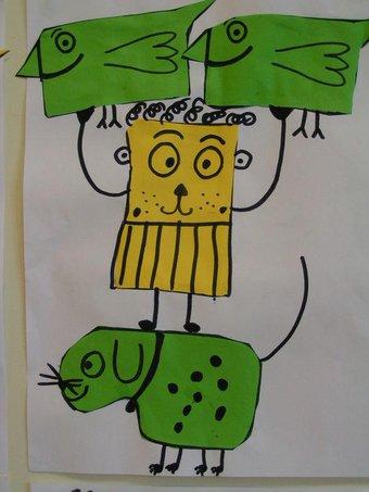 Image de Découper des formes simples : animaux rigolos !