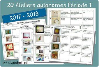 Image de 20 ateliers autonomes individuels GS pour la période 1