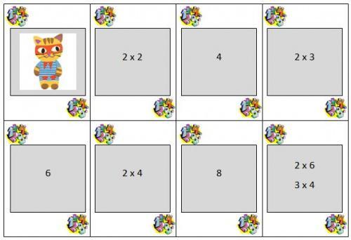 jeu de mistigri pour apprendre les tables de multiplication par la